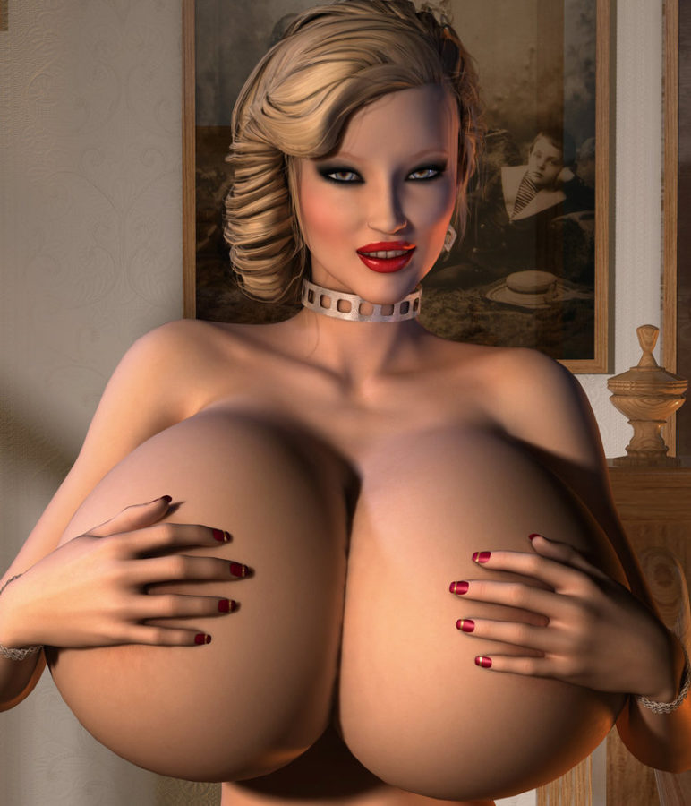 3D Big Tits Girl Model-7667