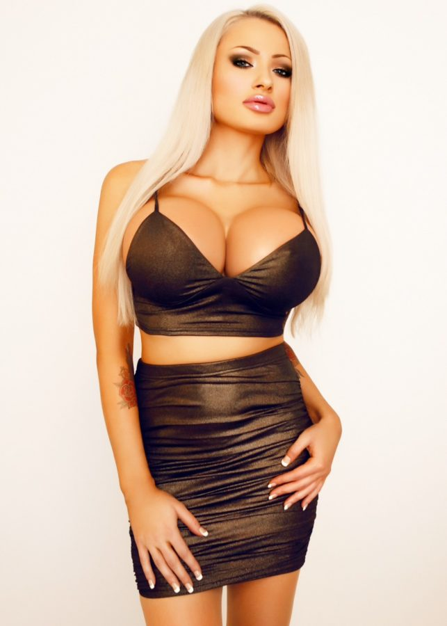 blonde doll with big tits tight dress ready to suck big fat cocks