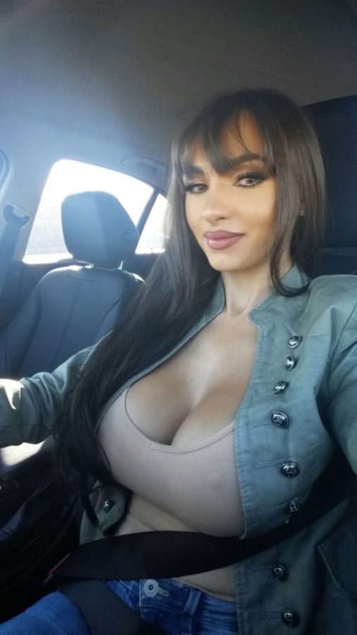 amateur big titty milf in the car