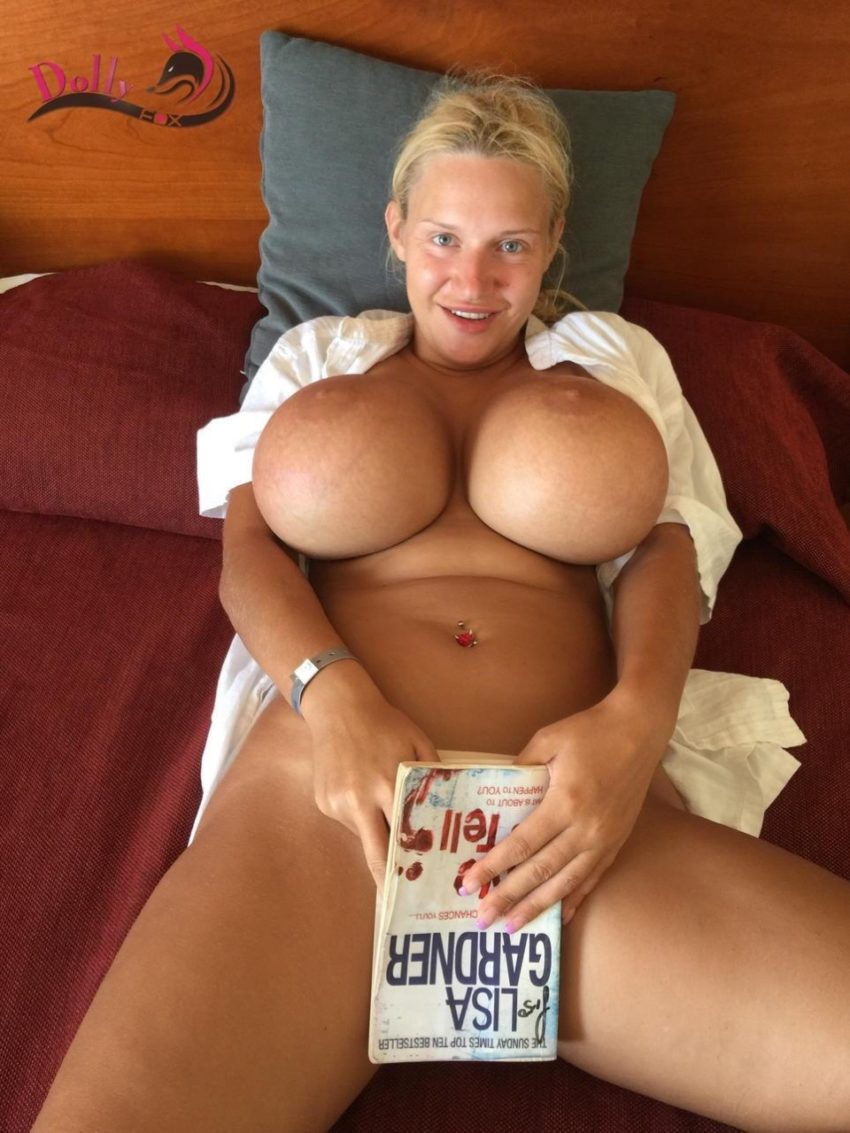 Housewife showing Big Fake Tits