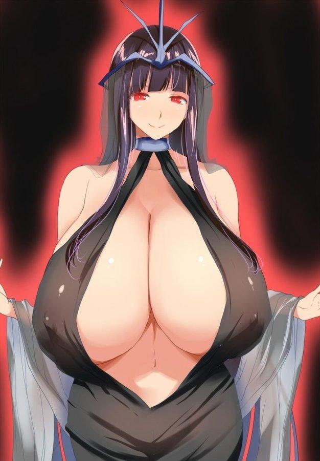fantasy comic cartoon busty massive tits milf