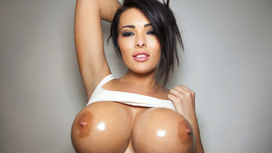juicy fake big tits babe naked