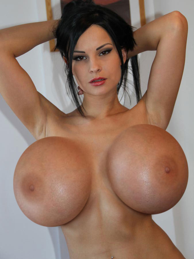 Naked Big Boobed SuperModel