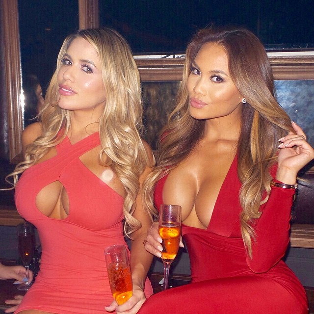 Big Titty Babes in Tight Red Dresses