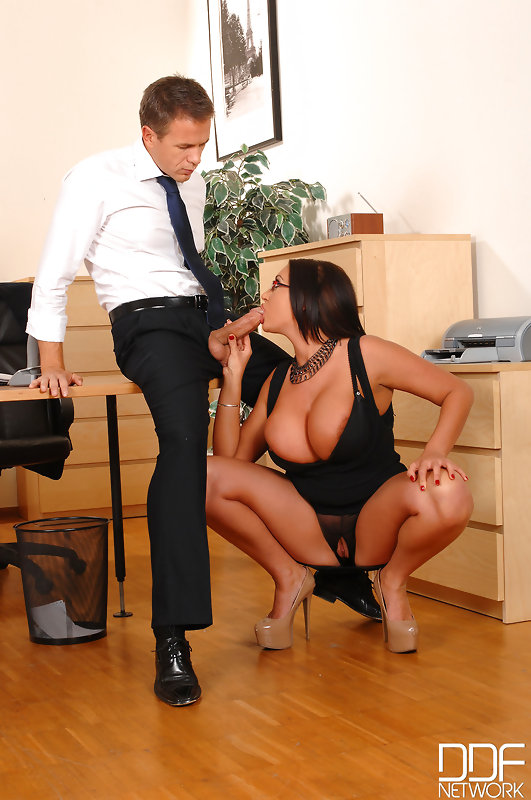 Emma Butt big tits secretary in office 1