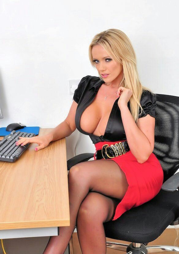 Hot Big Titty Blonde Secretary