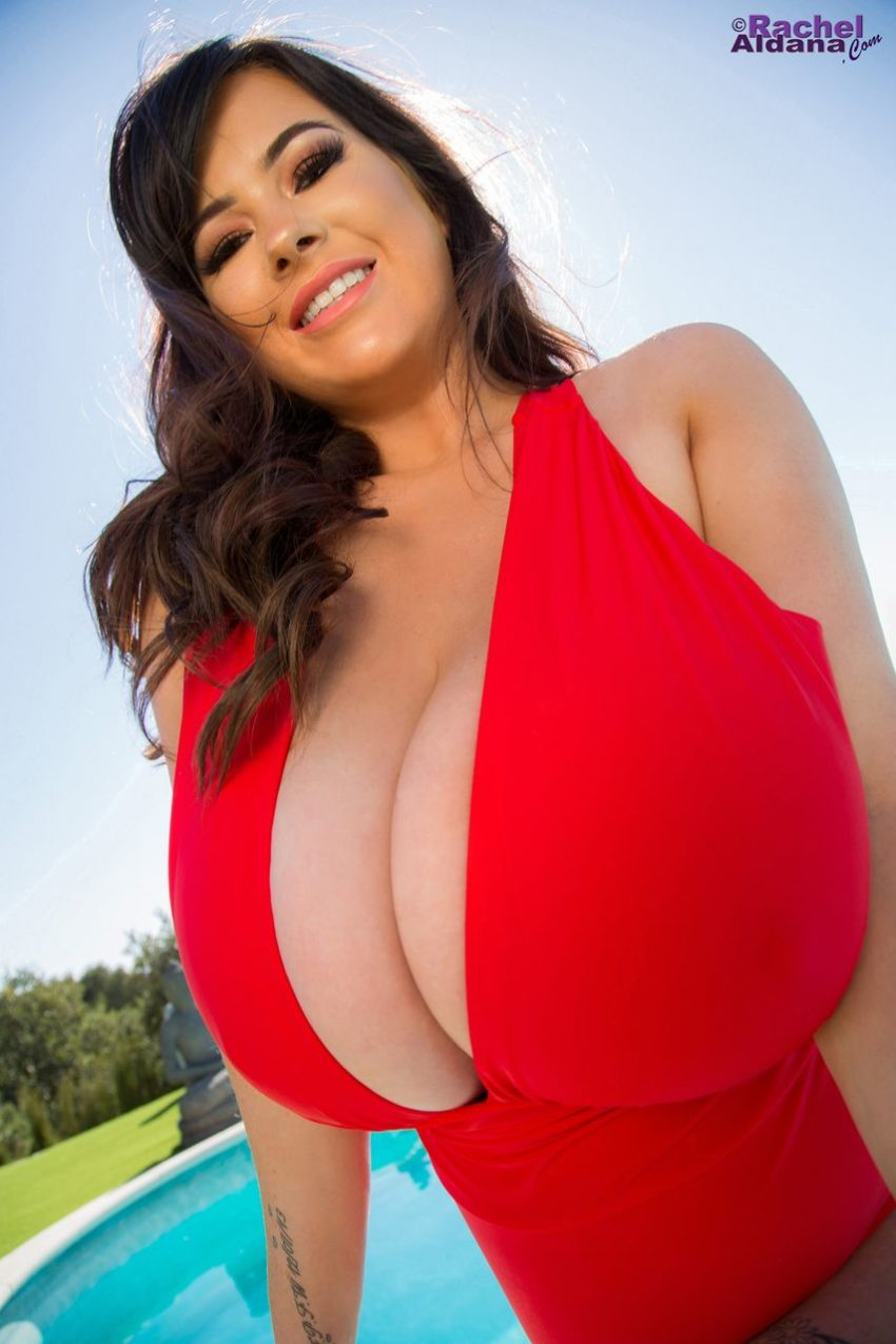 Rachel Aldana - Sexy Red Dress