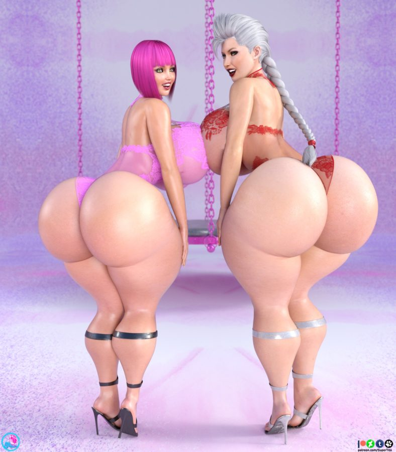 lola and olivia 3d giant boobs and ass comic