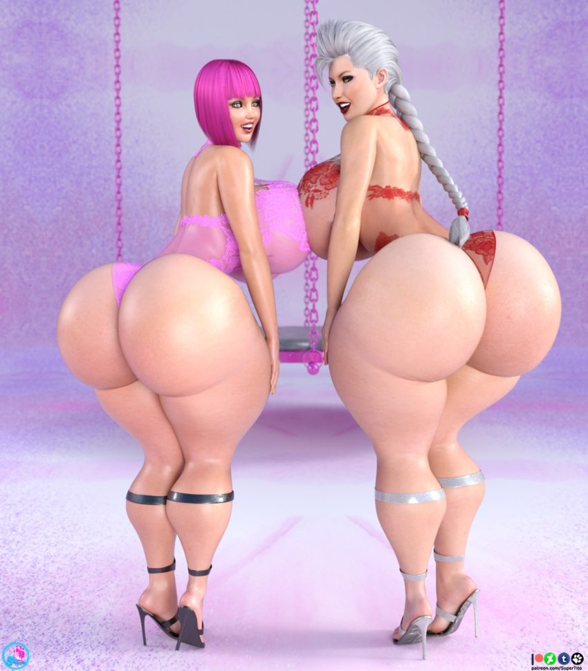 3D Big Tits lola and olivia giant boobs show 3d image gallery