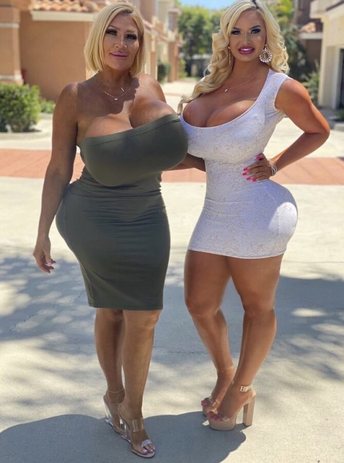 huge boobs milfs in tight skirts