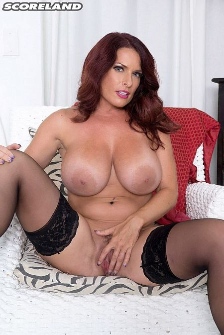 redhead milf with naked big tits